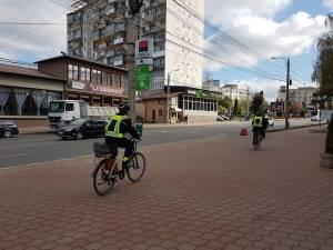 Poliția Locală patrulează  prin oraș pe biciclete electrice