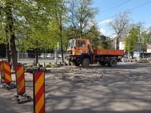 Parcarea publică cu acces de la bulevardul principal, 1 Mai, este închisă pe durata lucrărilor de reabilitare