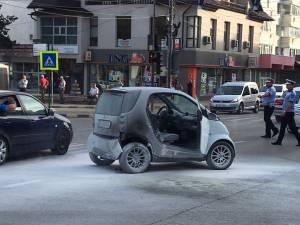 Autoturismul a fost stins câțiva șoferi din trafic cu stingătoarele