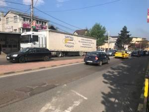 Tirul din Ucraina s-a defectat la intrarea în oraş dinspre Șcheia, blocând câteva ore o banda într-o zonă foarte aglomerată