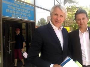 Eugen Teodorovici s-a întâlnit cu șeful Finantelor sucevene, Petrică Ropotă