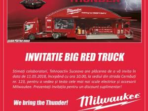 Caravana Milwaukee Big Red Truck – We bring the Thunder, eveniment unic în Suceava