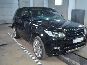 Autoturismul Range Rover a fost indisponibilizat la sediul Poliţiei de Frontieră