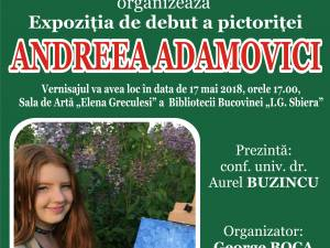 Vernisajul expoziţiei de pictură a Andreei Adamovici, la Biblioteca Bucovinei