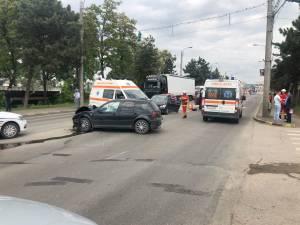Accident rutier cu trei victime transportate la spital, pe Calea Unirii
