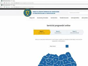 Modificări privind programările online la Serviciul de Regim Permise şi Înmatriculare Vehicule Suceava