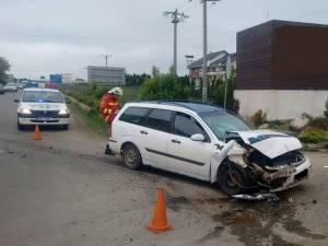 Din primele cercetări, accidentul a fost provocat de şoferul autoturismului Ford Focus, care nu a frânat la timp