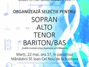 """Corala """"Ciprian Porumbescu"""" organizează preselecţii formula de concert a ansamblului"""