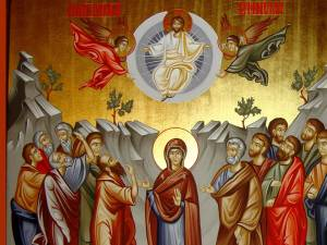 Înălţarea Domnului, în iconografia ortodoxă