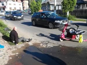 A lovit cu maşina doi pietoni, pe trotuar, apoi a încercat să ducă în eroare poliţia, mutând autoturismul