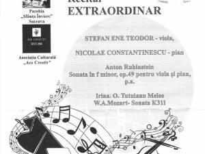 """Recital extraordinar de violă şi pian, la Biserica ''Sf. Înviere"""" Suceava"""