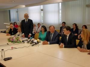 Întâlnirea ministrului Sănătății, Sorina Pintea, cu coletivul Spitalului de Urgență Suceava și administrația suceveană