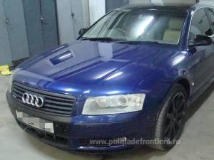 Audi căutat de autoritățile din Marea Britanie, descoperit în PTF Siret