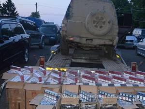 Maşina şi ţigările de contrabandă