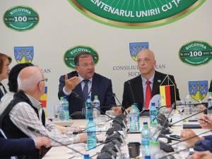Întâlnirea ambasadorului Germaniei cu Gheorghe Flutur, reprezentanţii CCI și oamenii de afaceri