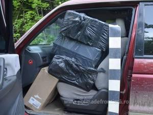 Autoturismul Mitsubishi Shogun, plin cu țigări de contrabandă