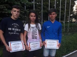 Premiaţii de la LPS Suceava, Florin Pitic, Angela Olenici şi Cătălin Tocilă