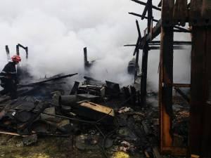 Pagube mari, păsări şi capre moarte, după un incendiu provocat de un trăsnet