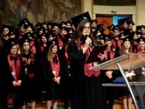 Marta Enăchioiu, la festivitatea de absolvire