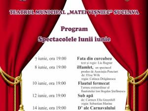 "Spectacolele lunii iunie la Teatrul ""Matei Vișniec"" Suceava"