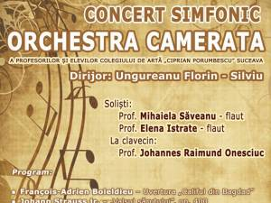 "Concert simfonic cu Orchestra Camerata de la Colegiul de Artă ""Ciprian Porumbescu"""