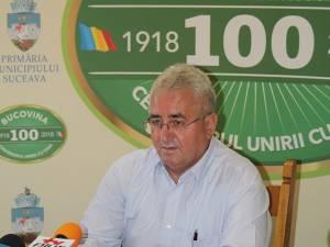 Primarul Sucevei, Ion Lungu, în conferinţa de presă