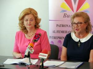 Liliana Agheorghicesei (dreapta) și Luminița Chihai