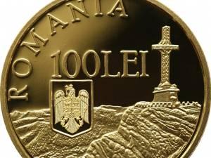 """Monedă din aur cu tema """"100 de ani de la încheierea Primului Război Mondial"""