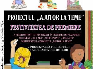 """Proiectul """"Ajutor la teme"""", la finele celui de-al optulea an de desfăşurare"""