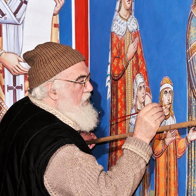 Pictorul Mihai Moroșan s-a mutat în Ceruri. Foto: putna.ro