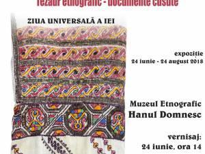 """Expoziția """"Cămașa cu altiță din Bucovina. Tezaur etnografic – documente cusute"""""""