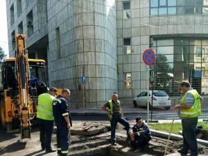Interventie ACET pentru remedierea avariei din zona centrala a Sucevei