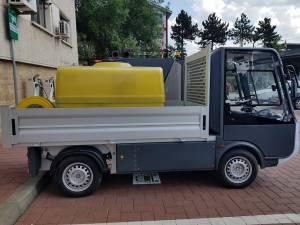 Autocisterna electrică achiziționată din fonduri elveţiene