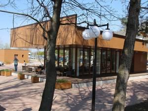 Cafeneaua din zona de agrement a Sucevei