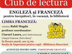 Clubul de lectură în limbile engleză și franceză se redeschide la Biblioteca Bucovinei