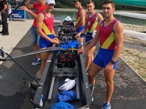 Echipajul de patru rame al României, cu trei suceveni în componenţă, a terminat concursul pe locul 2