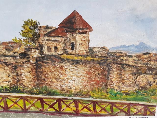 Creații ale participanților la cea de-a V-a editie a Taberei de pictură din Poiana Dacilor