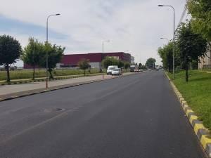 Iesirea din Suceava spre Fălticeni a fost refacută cu covor asfaltic