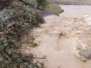 2,7 milioane de lei, necesare pentru refacerea digului care protejează de inundaţii staţia de apă de la Berchişeşti