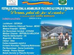 """Festivalul Internaţional al Ansamblurilor Folclorice ale Copiilor şi Tinerilor """"Dorna, plai de joc şi cântec"""""""