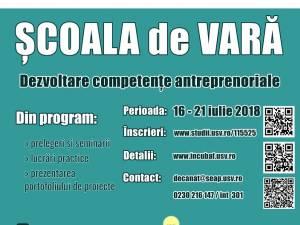 Şcoala de vară pentru dezvoltarea competenţelor antreprenoriale, la USV