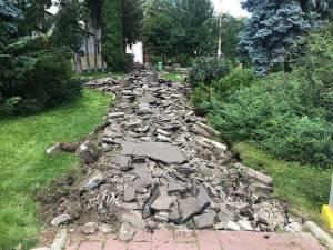 Locul asfaltului urmează să fie luat de pavele