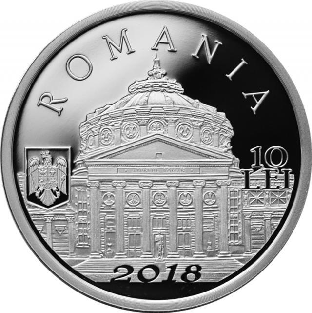 Monedă din argint- avers