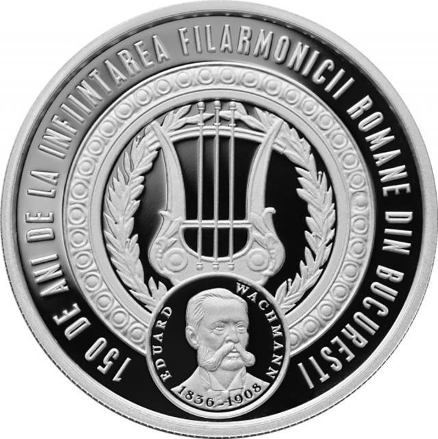 Monedă din argint- revers