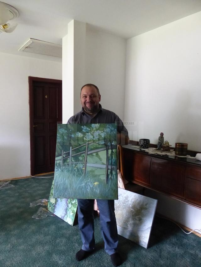 Preotul pictor Emilian Gavrilean - Gura Humorului