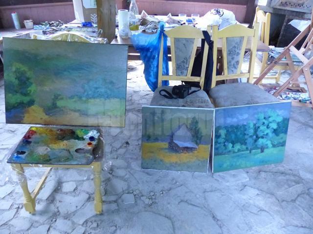 Artişti plastici profesionişti din România, Republica Moldova şi Ucraina, într-o tabără de pictură la Vama