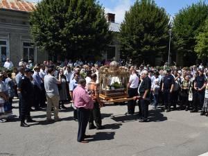 Procesiune religioasă pe străzile Fălticeniului, de Sfântul Mare Prooroc Ilie Tezviteanul