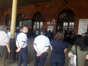 Momente emotionante, ieri, pe peronul Gării Burdujeni