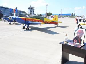 Moment emoţionant pe Aeroportul Suceava în memoria pilotului care a murit în accidentul aviatic de la Frătăuţi
