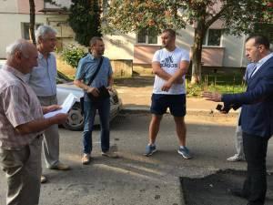 Comandament în teren, în cartierul Zamca, convocat marţi dimineaţă de viceprimarul Lucian Harsovschi